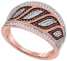 Ladies Diamond Fashion Ring 10K Rose Gold 0.40 cts. Red and White Diamonds GD-88465 - $509.99 : Diamonds, Engagement Rings, Wedding Bands, His and Hers Sets, America's Largest Engagement Ring and Wedding Band Distributor.