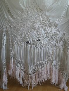Rare Antique 1800s 1900s Lace Curtain/French Handworked