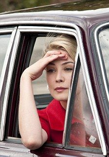 Not a hair picture but what a great photo of Rosamund Pike.  So elegant.
