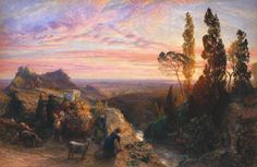 Palmer. A Dream in the Appenine c.1864 (watercolor and gouache on paper laid on wood) Tate Britain - Samuel Palmer - Wikipedia, the free encyclopedia