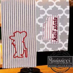New collegiate kitchen towels have arrived just in time for football season! www.TheMississippiGiftCompany.com/linens-from-Mississippi.aspx
