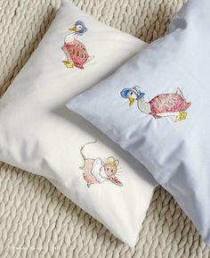 Jane Churchill's Emb Beatrix Potter (pillows) #interiors #janechurchill #textiles