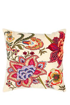 Floral Embroidered Throw Pillow by Rizzy on @nordstrom_rack