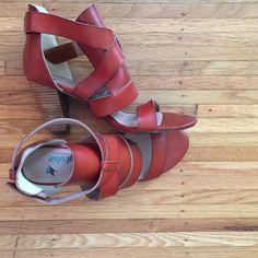 Farylrobin Leather Cognac Sandals