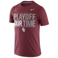 Oklahoma Sooners Nike 2016 College Football Playoff Bound Our Time T-Shirt - Crimson
