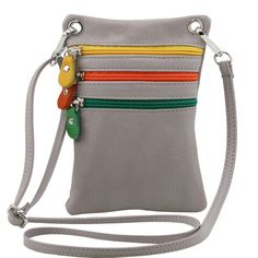 aa28d1eeb2ea This unisex leather cross-body bag has a cotton lining Outside part 3 zip  pockets