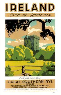 Vintage Retro Travel and Railways Reproduction Print Poster Nr Ireland travel vintage poster Retro Poster, Poster Art, Art Posters, Print Poster, Poster Ideas, Vintage Advertisements, Vintage Ads, Vintage Graphic, Vintage Stuff