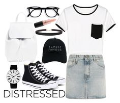"""""""simple"""" by sherise-roetz ❤ liked on Polyvore featuring R13, WithChic, Converse, Mansur Gavriel, Rosendahl, Nasaseasons, Humble Chic, MAC Cosmetics, white and black"""