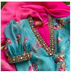 Kids Blouse Designs, Fancy Blouse Designs, Bridal Blouse Designs, Designs For Dresses, Blouse Neck Designs, Blouse Patterns, Hand Designs, Sari Bluse, Saree Designs Party Wear