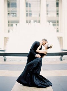 Lincoln Center Wedding Photo Shoot by Bellafare + Jen Huang