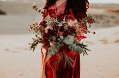 deep red moody bouquet