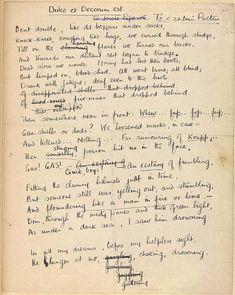 Draft of Wilfred Owen's poem Dulce et Decorum Est.