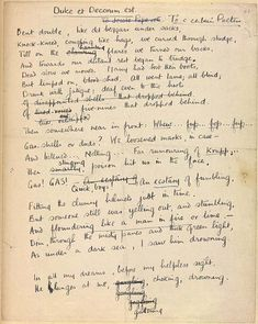 Wilfred Owen Dulce et Decorum Est manuscript page                                    [ 'This item is from The First World War Poetry Digital Archive, University of Oxford (www.oucs.ox.ac.uk/ww1lit); © [Copyright notice]'.]
