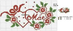 Cross Stitch Heart, Crochet Motif, Diy And Crafts, Kids Rugs, Sewing, Embroidery, Canvases, Folklore, Cross Stitch Art