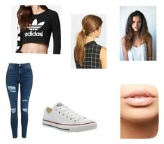 """""""Where It All Began"""" by bubblepies ❤ liked on Polyvore featuring Topshop, adidas, Converse, Ficcare and MDMflow"""