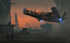 """""""Takeoff"""" by Marco Gorlei. #sciencefiction #scifi"""