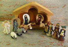 Creche, Nativity Scene. $80.00, via Etsy.