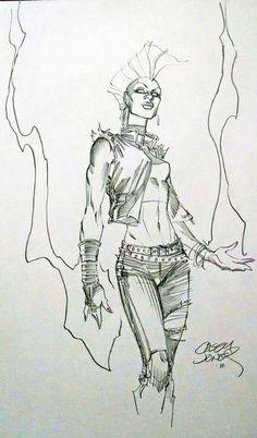 Storm by Casey Jones Comic Art
