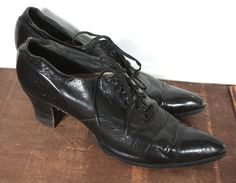 Hey, I found this really awesome Etsy listing at https://www.etsy.com/listing/235545906/antique-1920s-shoes-1910-1920-black