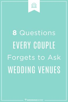 Bookmark this so you don't forget to ask your #weddingvenues these questions!