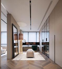 客厅 on Behance Walk In Closet Design, Bedroom Closet Design, Closet Designs, Bedroom Decor, Dream Home Design, House Design, Dressing Room Design, Luxurious Bedrooms, Modern Bedroom