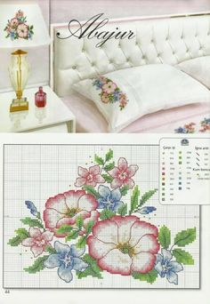 Cross Stitch Borders, Cross Stitch Flowers, Counted Cross Stitch Patterns, Cross Stitch Charts, Cross Stitch Designs, Cross Stitching, Cross Stitch Embroidery, Christmas Embroidery Patterns, Creations