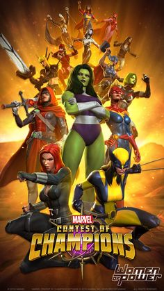 "#Marvel Contest of Champions ""Women of Power"" -buy Marvel Contest of Champions units on http://www.cocgems.com/ios-game/marvel-contest-of-champions-units.html"