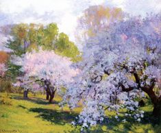 wonderingaboutitall:The Orchard - Robert Vonnoh