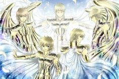 An Ark of Time (Sisyphos, Regulus, Aioria, Aioros, and Ilias at the back of them) by Itsuya999