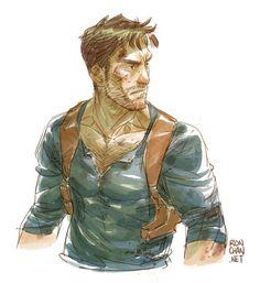 """rondanchan: """"Afternoon doodle: A quickie Nathan Drake sketch! Can't wait to play Uncharted 4 soooooooooooooooooooooooon. """""""
