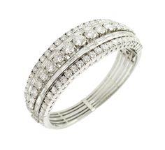 Lot 176 Important platinum and diamond bracelet  1940/50s http://www.colasantiaste.com/?language=en