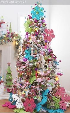 Collection of whimsical Christmas tree from RAz stunning Christmas decorations and inspirations holiday ideas at Trendy Tree. Noel Christmas, Pink Christmas, All Things Christmas, Winter Christmas, Christmas Crafts, Holiday Tree, Xmas Tree, Christmas Tree Decorations, Beautiful Christmas Trees