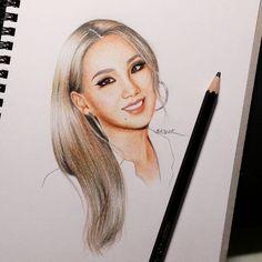 "1,676 curtidas, 20 comentários - Clare Kim (@ksy.ck) no Instagram: ""Happy birthday to CL #art #drawing #makeup #girl #pretty #cute #follow #wip #doodle #illustration…"""