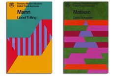 Jamie Shovlin: MANN BY LIONEL TRILLING, 2011-12 (left) and DERRIDA BY CHRISTOPHER NORRIS (VARIATION 3), 2011-12 (right)