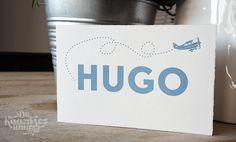 Letterpress geboortekaartje – Hugo