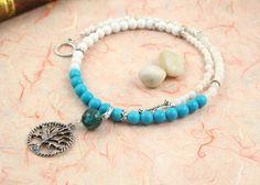 Pregnancy Trimester Tracking Necklace - Pick your charm - Sea Foam - turquoise, rainbow moonstone, snow quartz: https://www.etsy.com/listing/179993314/pregnancy-trimester-tracking-necklace
