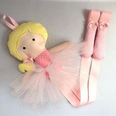 Ballerina Bow Buddy Personalised - Hairbow Ribbon Clip Storage Hanging Organiser Display