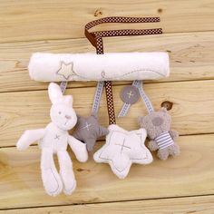Hot! arrival mamas&papas cot hanging toy baby rattle toy soft plush rabbit musical mobile products baby Xmas gift New Sale