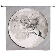 "Cat Moon 60"" Curtains"