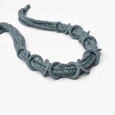 Fiber necklace / sage green cotton necklace / Crochet necklace / Fiber jewelry / Italian textile jewelry / Spring fashion / Pastel green