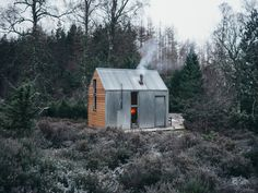 The Inshriach Bothy sits in a clearing in Cairngorms National Park in Northeast Scotland. #prefab #cabin #smallspace