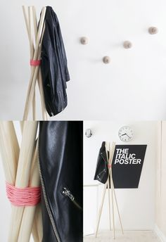 #diy coat rack hang quilt from this?