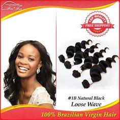 5A grade brazilian virgin hair weave 5pcs lot cheap price brazillian loose wave virgin human hair extensions 5 bundles $126.75 - 303.75