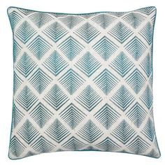 Geometric Embroidered Cushion | Dunelm