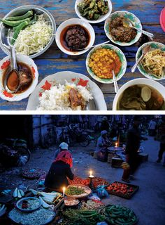 The food in Burma is subtle and varied, especially during the midday meal  This is gorgeous