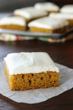 Light and fluffy pumpkin bars topped with a rich creamy decadent light and fluffy pumpkin bars topped with a rich creamy decadent cream cheese frosting for an exquisite heavenly result aloadofball Image collections