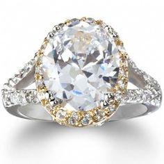 Katie Holmes' Imitation Diamond Oval Engagement Ring