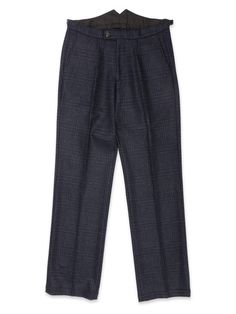 The Cavalry Trouser is a looser cut than our Fishtail, without being baggy. Here it shines thanks to the bold check of the Haydon midnight fabric. Trousers, Pajama Pants, Pajamas, Sweatpants, Fashion, Trouser Pants, Pjs, Moda, Pants