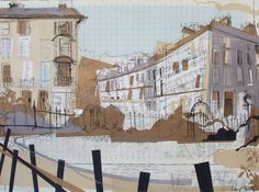 India Street from Circus Gardens Collage with Mixed Media 2016, 76 x 56cm This 'drawing' features in the BBC documentary 'New Town' on BBC 2 Scotland at 9pm on 20th September 2016. The programme explores the planning and building of the Edinburgh New...