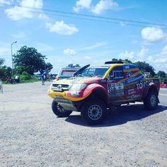 #YA el #Dakar2017 esta pasando por Rotonda #Formosa estamos en directo #imagenprimeroya